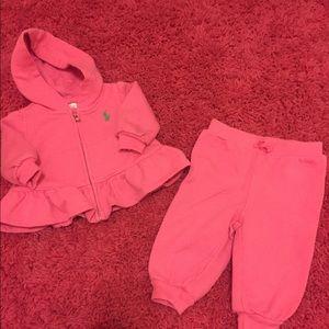 🌷Infant Girls Ralph Lauren Cotton Sweatsuit 🌷